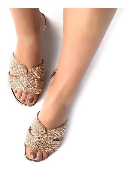 Sapato Feminino Slide Dakota Rasteira Dourada