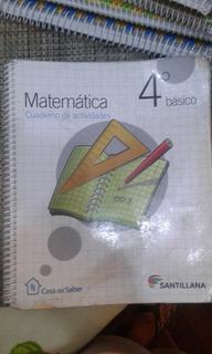 Matemática 4° Básico Tomos 1,2 Y C Santillana Casa Del Saber