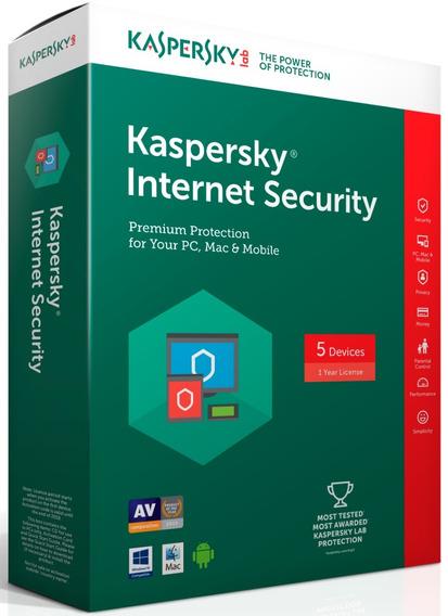 Kaspersky Internet Security 2019 - 1 Disp Entrega Imediata