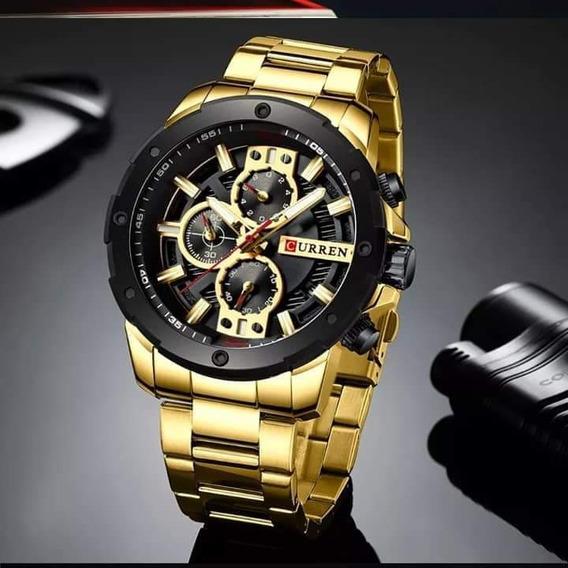 Relógio Curren Aço Inoxidável+brinde Relógio Relógio Slim