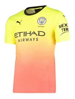 Camisa Oficial Manchester City Puma 2019/2020amarela Degradê