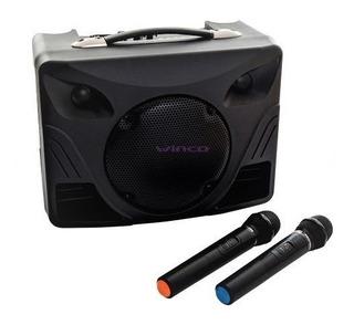 Parlante Portatil Bluetooth Winco W232 Karaoke +2 Microfonos