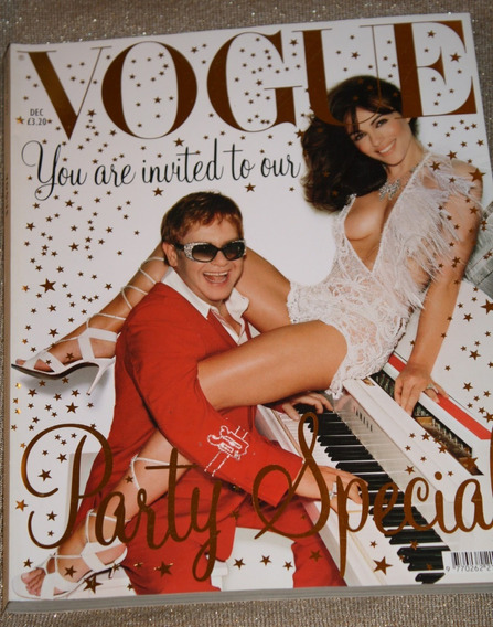 Vogue You Are Elton John Elizabeth Hurley Cover Dez.2002