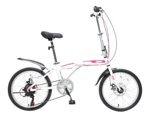 Imagen 1 de 10 de Bicicleta Plegable Folding Rodado 20 Shimano Cambios Varon Mujer Mountain Urbana Reforzada Garantia Envios Happy Buy