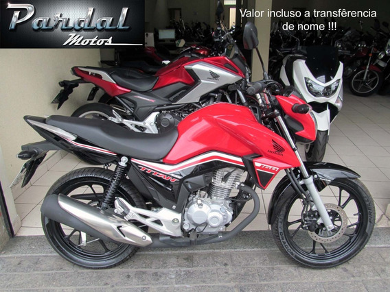 Honda Cg 160 Titan Ex 2019 Vermelha