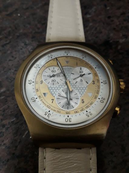Relógio Swatch Suiço Original Irony Stainless Steel/pulseira