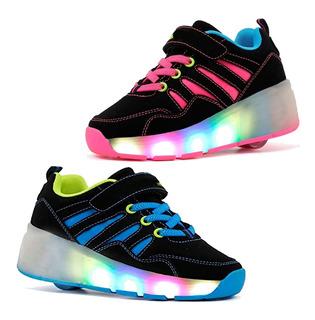 Tenis Patin Cps Kidyk Rueda +luces Zapato 2 Modelos 2019 Mnr
