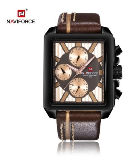 Relógio Masculino Naviforce 9111 De Pulso Frete Grátis