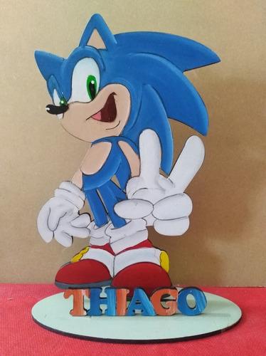 Sonic  Adorno Para Torta Centro De Mesa