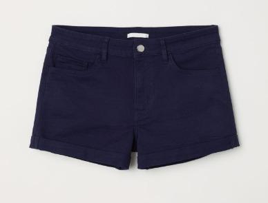 Short Jean H&m Elastizado Nuevo Con Etiqueta Talle S/m