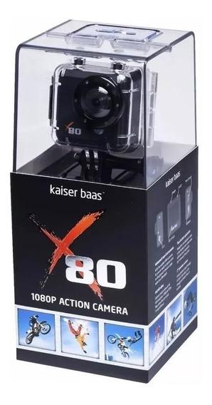 Câmera E Filmadora De Ação Kaiser Baas X80 Preta 5mp, Lcd