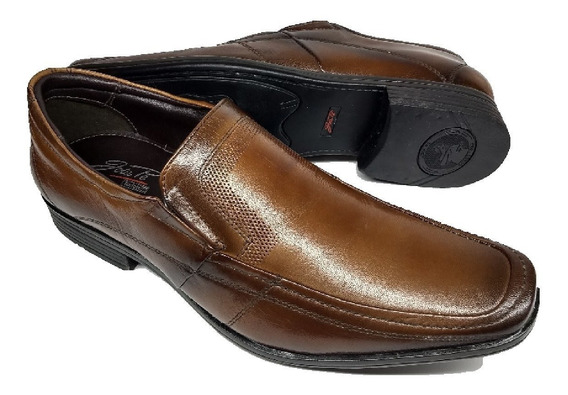Sapato Jota Pe Marrom Em Couro Natural Basico