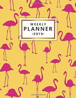 Planificador Semanal 2019 Bonito Flamenco Amarillo Organizad