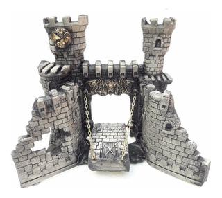 Adornos Para Acuarios - Castillo Medieval Mediano En Resina