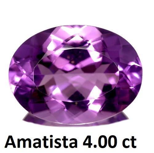 Amatista Corte Oval De 4.00 Quilates (ct)