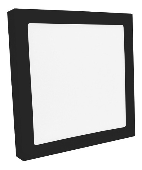 Plafon Sobrepor Quadrado Led 32w Painel Preto Bivolt 30x30