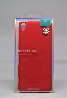 Funda Xperia Xa Mercury Goospery Soft Feeling Rojo