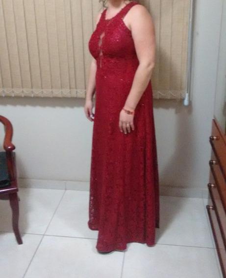 Vestido Marsala Longo Tamanho G / Gg