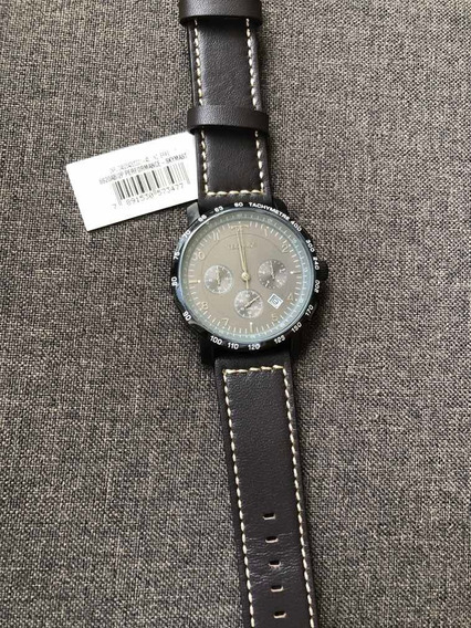 Relógio Masculino Technos Pulseira De Couro Original Crono