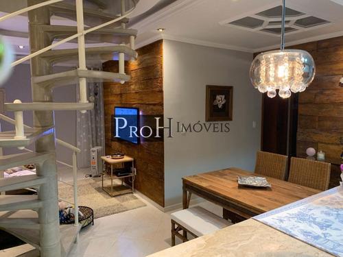 Imagem 1 de 15 de Cobertura Duplex Para Venda Em São Caetano Do Sul, Santa Maria, 3 Dormitórios, 1 Suíte, 4 Banheiros, 2 Vagas - Delicob_1-1427420