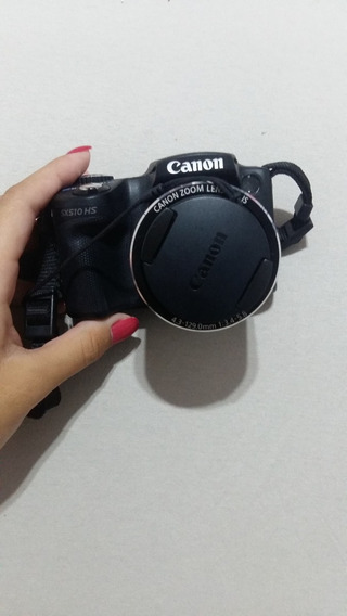 Câmera Fotográfica Canon Sx510. Conexão Wifi