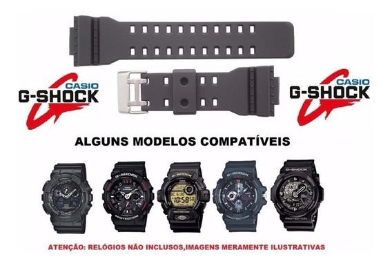 Pulseira Preta Casio G-shock Gd-110, Gd-100, Qw-3400 Ga-120