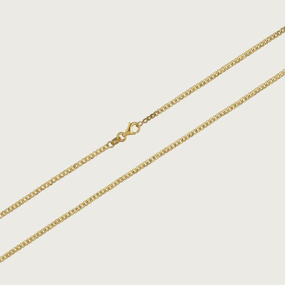 Cordão De Ouro 18k Groumett Com 60cm - 2,5gr