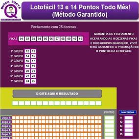Lotofácil 13 E 14 Pontos Todo Mês, Método Garantido (barato)