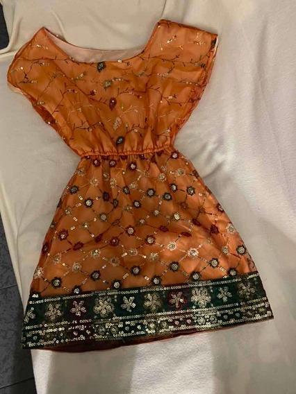 Vestido Fiesta Con Hilos De La India