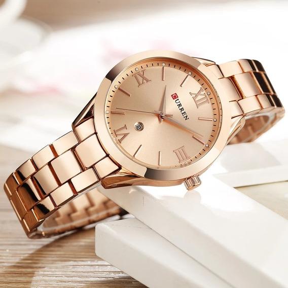 Relógio Feminino Barato Rose Curren Original