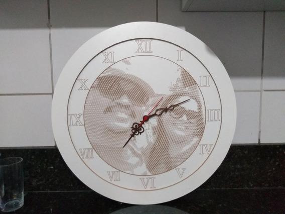 Relógio De Parede Personalizado Com Foto 53cm