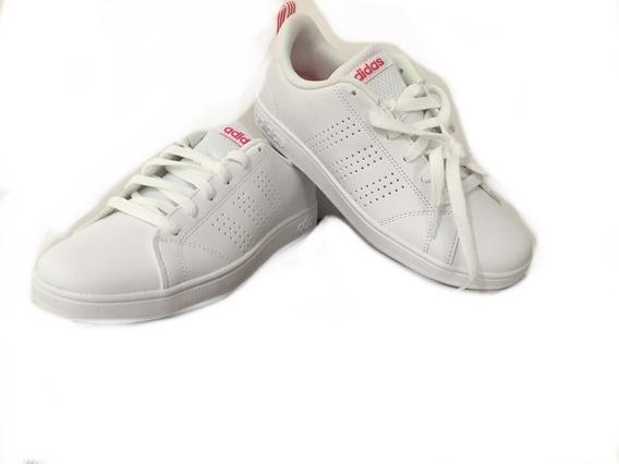 Tenis adidas Vs Advantage Cl K Blanco/rojo
