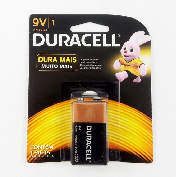 Kit Com 20 Baterias Pilha 9v Duracell 100% Original