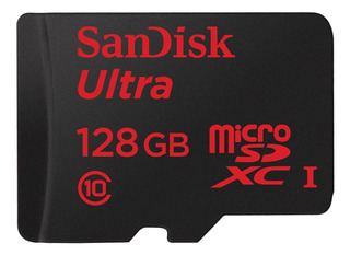 Cartão de memória SanDisk SDSQUNC-128G-GN6MA Ultra com adaptador SD 128GB