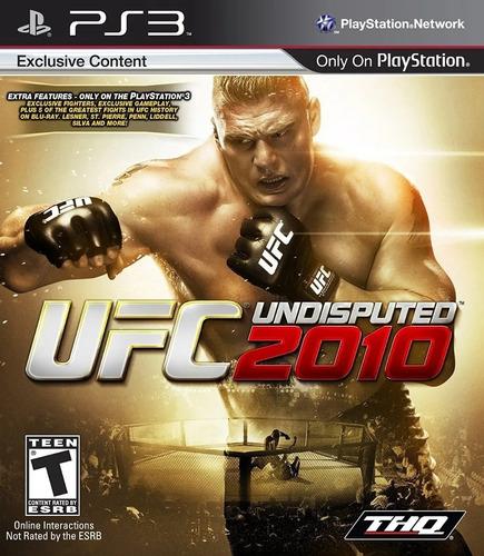 Ufc 2010 Undisputed Playstation 3 Ps3 Original Novo Lacrado