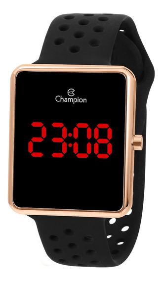 Relógio Champion Feminino Ch40081p Digital Quadrado Rose