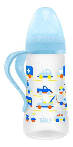 Mamadeira Design 300ml (+6m) Tam.2 Carros Azul- Lillo