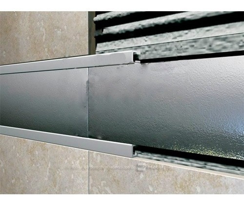 Perfil Abr201 Alum Baston Recto 2.44m 2cm Cromo Zocalis