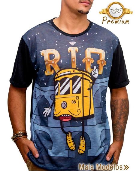 Camiseta Masculina Bondinho Rio De Janeiro Lapa Camisa Blusa