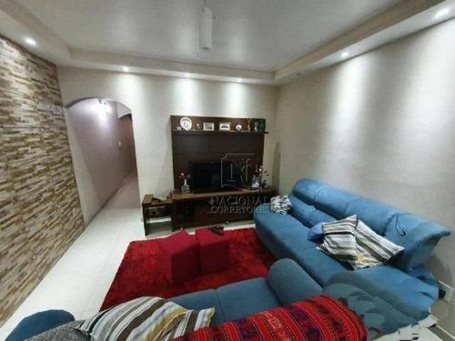 Sobrado Com 3 Dormitórios À Venda, 175 M² Por R$ 530.000,00 - Jardim Rina - Santo André/sp - So4059