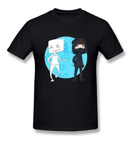 Playera Camiseta Moda Dj Marshmello Caricatura Logo Hermoso