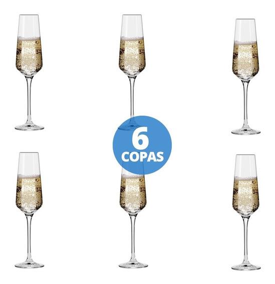 Copas Brunello Champagne Vidrio Nadir 190ml X 6 Unidades