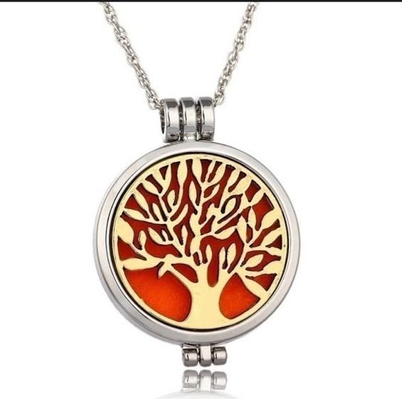 Colar Difusor Pessoal Árvore Da Vida Dourado