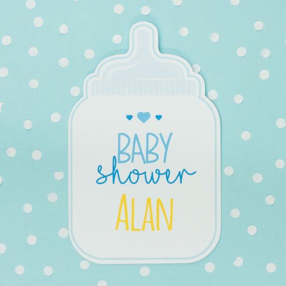 20 Invitaciones Baby Shower Forma De Mamila Económicas