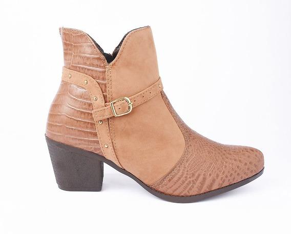 Bota Feminina Cano Curto Ankle Boot Cromic Femme
