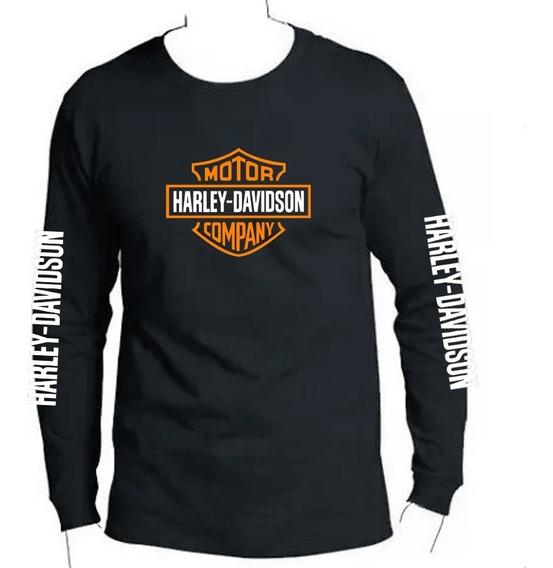 Camiseta Estampada Manga Larga Harley-davidson