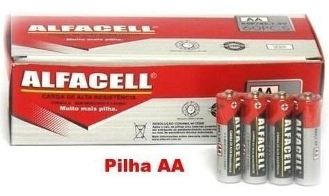 Caixa Pilha Alfacell 180un (120 Aaa Palito + Aa 60 Comum)