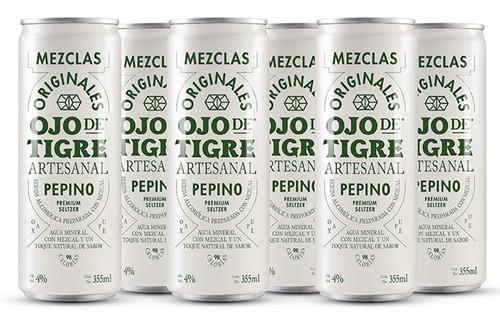 Imagen 1 de 1 de Seltzer Ojo De Tigre Pepino 355 Ml (6 Pack)