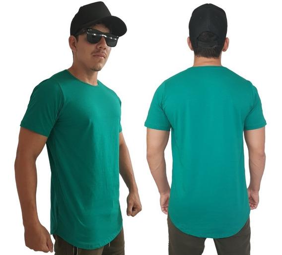 Kit 15 Camisas Maculinas Long Line No Atacado Varias Cores