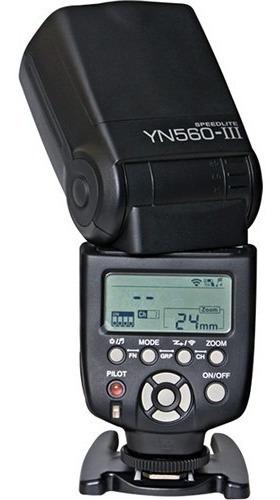 Flash Yongnuo Yn 560 Iii Para Canon E Nikon Este Produto Funciona Somente Em Modo Manual Ele Não E Ttl Automatico Novo